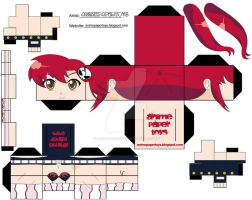 YOKO GUREN LAGAN CUBEE by animepapertoys