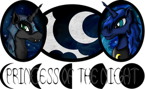 Princess of the Night - Luna/Nightmare Moon Logo by AncientOwl