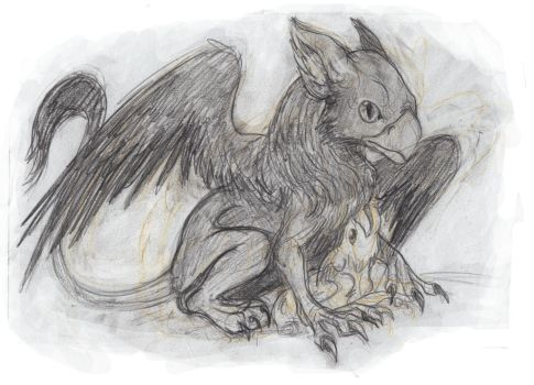 Gryphen mother and Child by LinmirianJoyrex