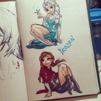 Frozen sketches by quotidia