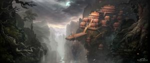 XIAO AO JIAN GHU Game scene by white70WS