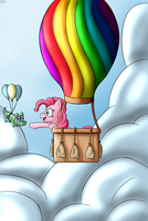 Pinkie Pie and Gummy by balazsbali