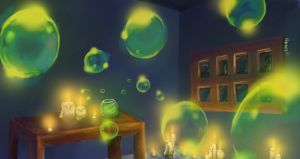 Glow in the Dark Bubbles by Nyobee
