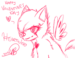 Happy Valentines Day! Heartwing! by turtumy