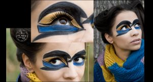 yellow euphonia  bird inspired make-up by CPA-x-e-n-o-i