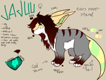 Jajuu reference sheet[fursona] by Arinau