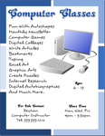 Inkscape Tutorials Computer Classes Flyer by flyertutor