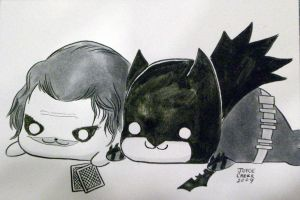 Batman and Joker Goma by ayabrea