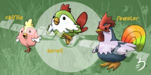 Chicken pokemon - 6th gen by farreer