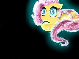 Glowing Fluttershy by VanillaVictoria