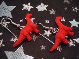 Brachiosaurus Earrings by PoniesOfDOOOM