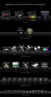OSX Application Icons 1 - dark by sendal
