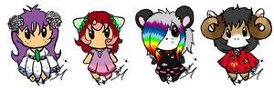 Adoptables 5 :CLOSED: by Rika-Pika