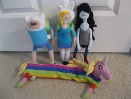 My Adventure Time Plushies by AmmyShiranui98