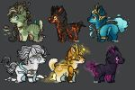 Adopts Batch 6 || Elemental Warriors || CLOSED by starry-knight16