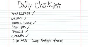 My daily checklist by clarinetplayer