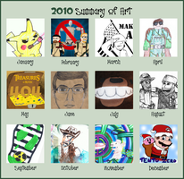 2010 Summary of Art by Bleu-Ninja