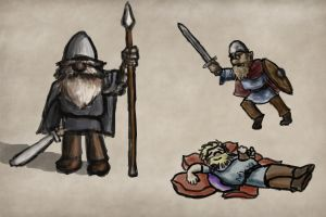 Sketch: Variety of Vikings by Callego
