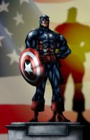 Captain Bucky Coloured by Kmadden2004