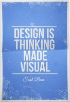 Design Is Thinking Made Visual - Saul Bass by daWIIZ