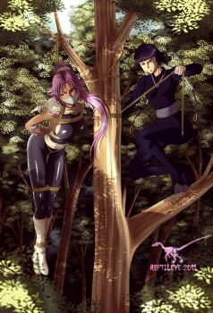 Yoruichi Soifon training 2 by reptileye