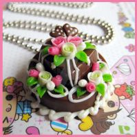 Choco Wedding Cake Necklace by cherryboop