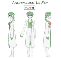 Commission - Archimedes Reference Sheet by MiaMaha