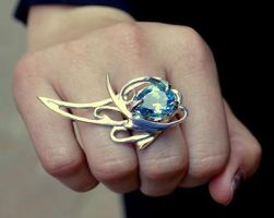 Topaz Comet Ring by Nosallis