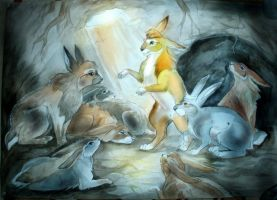 Hazel and co (Watership Down) by Taski-Guru