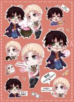 Sticker Sample Round 1 (Drarry) by arisa-chibara