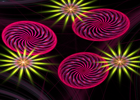 pink rings with green stars by Andrea1981G