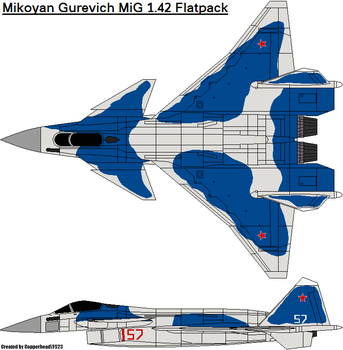 Mikoyan Gurevich MiG 1.42 Flatpack by CopperheadYSF23
