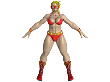 SFV R. Mika Red Cyclone by zareef