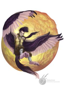 Commission: Harpy by Seleylone