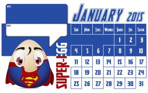 Heroes Egg  - Calender 2015 by himhe418