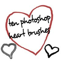 Photoshop CS HEART brushes by gorjuss-stock