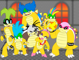 The Koopa Kids by SpikeRamos
