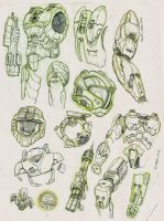 More pencils for HALO by JoniGodoy