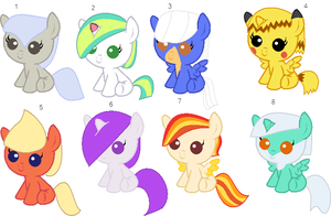 Who that Pokemon themed foal adopts by NeVerDark1211