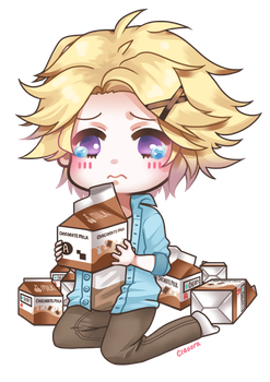 Yoosung's Chocorate Milk by ciaoora