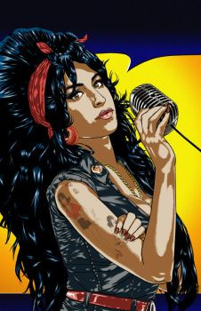 Bluewater Comics Tribute to AMY WINEHOUSE Cover A by BrentJS