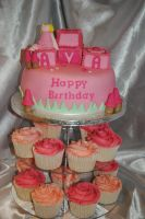 Fairy cupcake tower by starry-design-studio