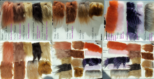 Fur Samples and Comparisons by CeshionCo