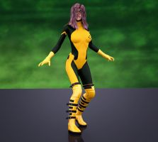 Rogue 2nd skin textures for V4 by hiram67