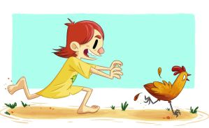 Chasing Chickens by GCrosbie