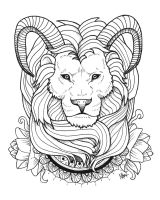 Lion Tattoo by MaryMaryLP