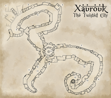Xaurouk, the Twisted City by WhoDrewThis