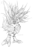 Chocobo Warrior Pencil by Besonik