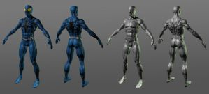 Spiderman Blue 3D finished by RedHeretic