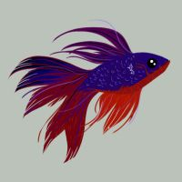 Dave the Betta by TriBunny